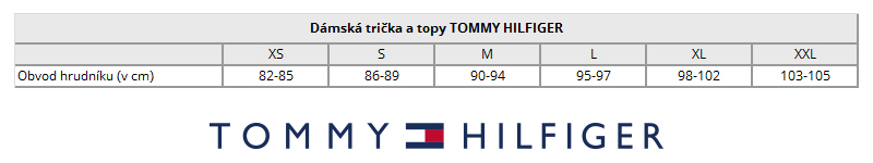 TOMMY HILFIGER damska tricka tabulka velikosti dirtymoda.cz 04af05d74ec