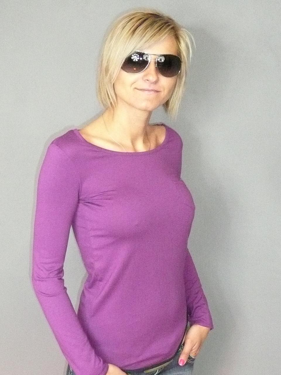 85f4e8f06df Dámské fialové tričko ROXY s dlouhým rukávem